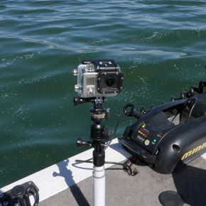 Gopro mounts in the boat for Gopro fishing mount
